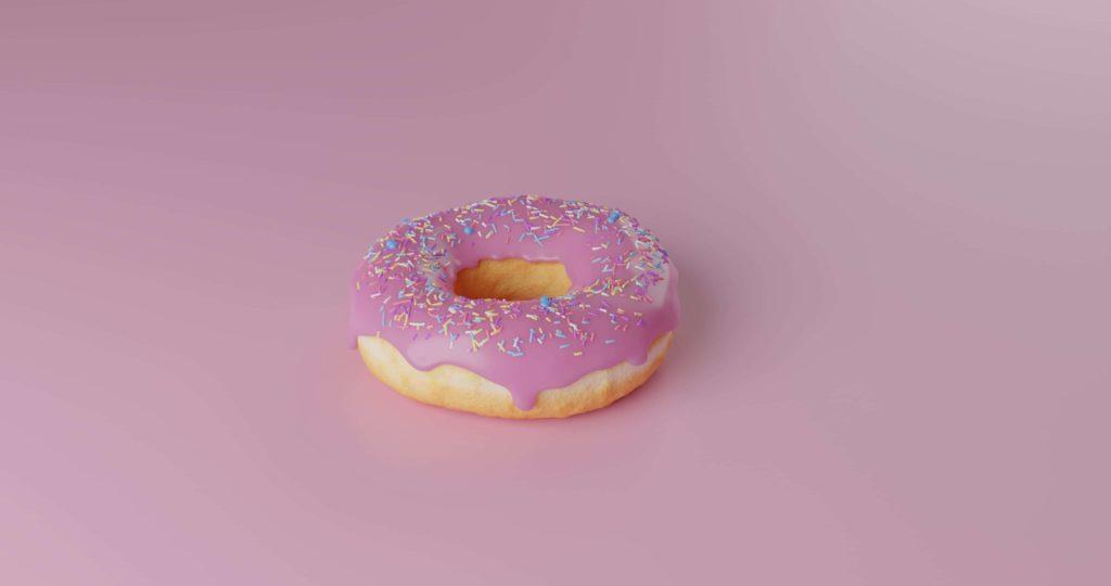 donut rosa calorias