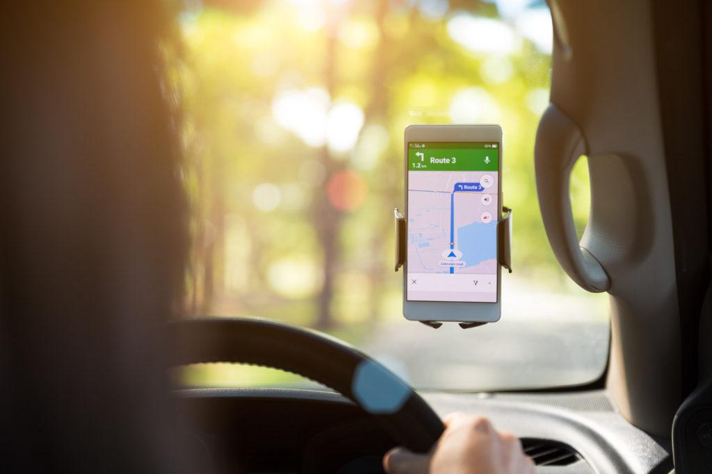 movil coche mapa google maps
