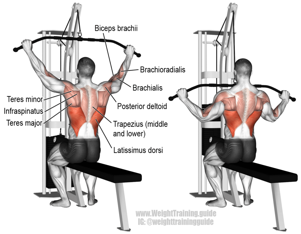 lat pulldown agarre ancho