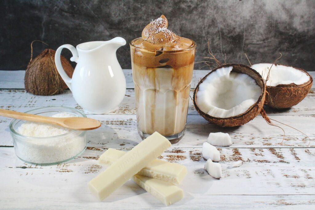 leche de coco con azucar