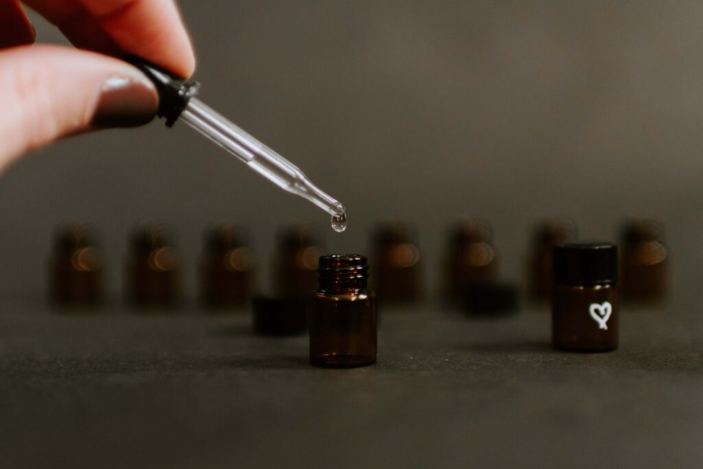 aceita en botellas pequeñas